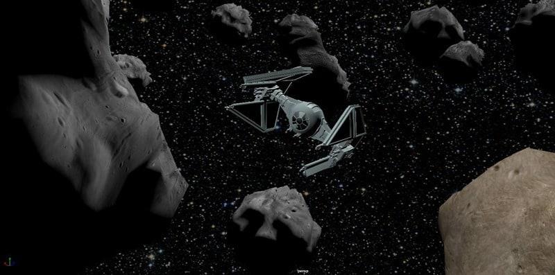 Asteroid Field de Star Wars por el alumno, Jomar Feliciano