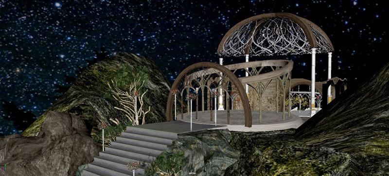 Elvish Temple de Lord of the Rings por la alumna, Gladymar Rivera