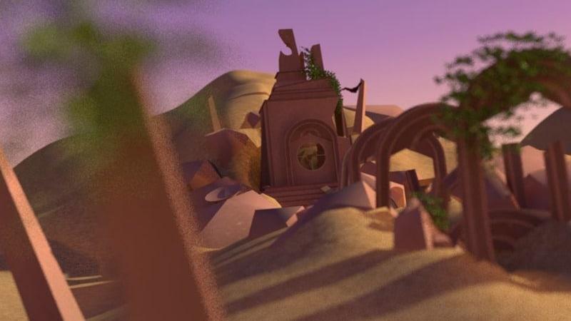 Templo en el desierto por el alumno, Joel Morán