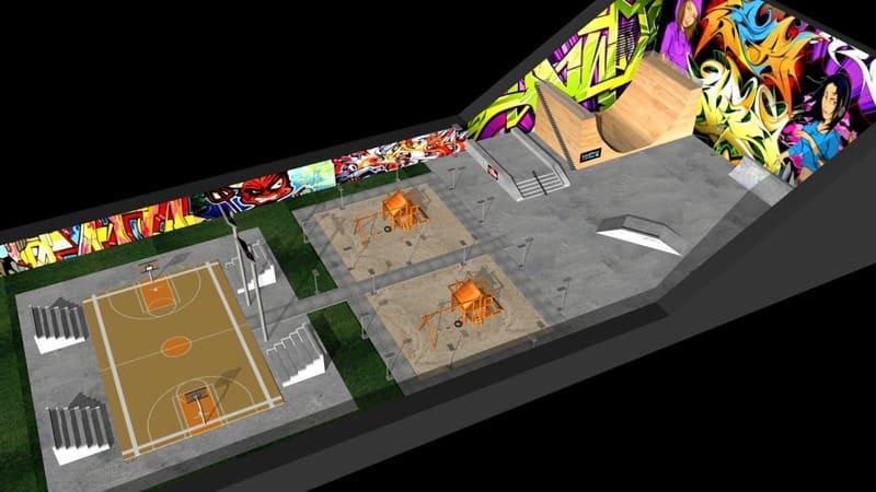 Skate Park por el alumno, Carlos Álvarez