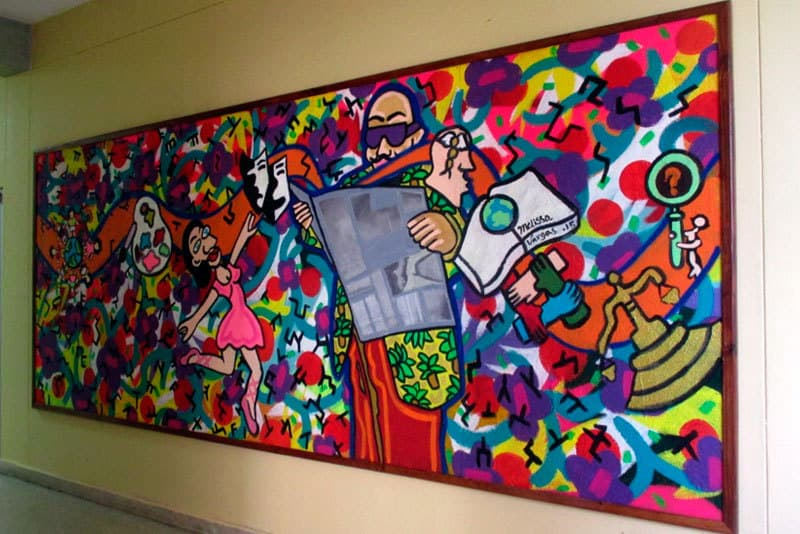 Mural actual, realizado por Melissa Vargas