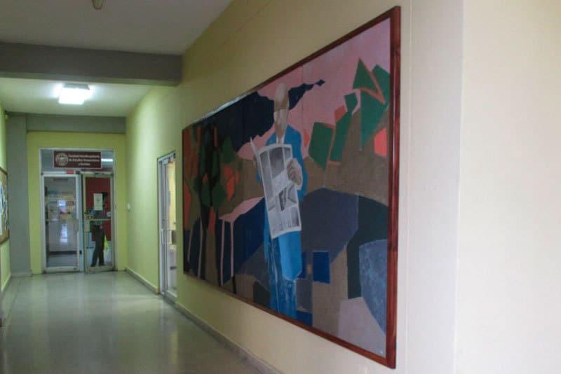 Mural original realizado por la profesora Torrech